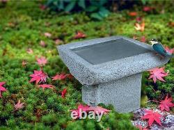 Zen Kyoto Cast-Stone Garden Birdbath