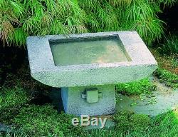 Zen Kyoto Cast-Stone Garden Birdbath-TEMPORARY SALE, SAVE $50